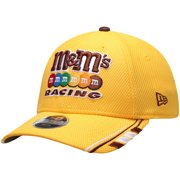 Kyle Busch New Era Youth Driver 9FORTY Adjustable Snapback Hat - Yellow - OSFA