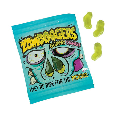 Zombie Halloween Food Ideas (Fun Express - Zombie Boogers Gummies for Halloween - Edibles - Soft & Chewy Candy - Gummy - Halloween - 18)