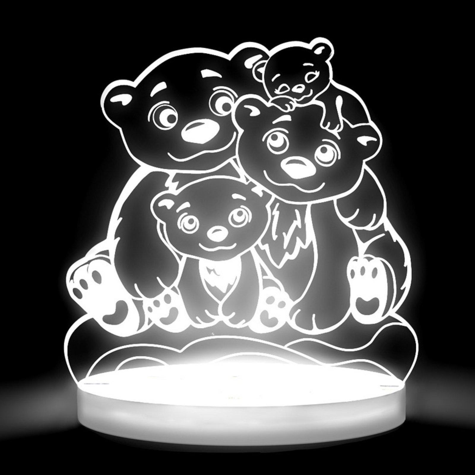 Total Dreamz Bears Multicolored LED Night Light