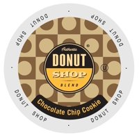 Authentic Donut Shop Chocolate Chip Cookie, Single Serve Cup Portion Pack for Keurig K-Cup Brewers, 24 Count