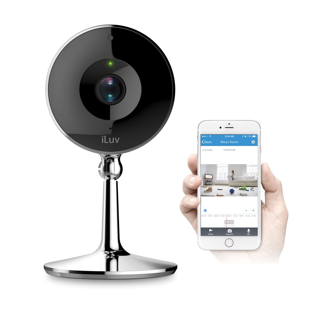 iLuv mySight 2K Wi-Fi Cloud-Based HD Video Camera by iLuv