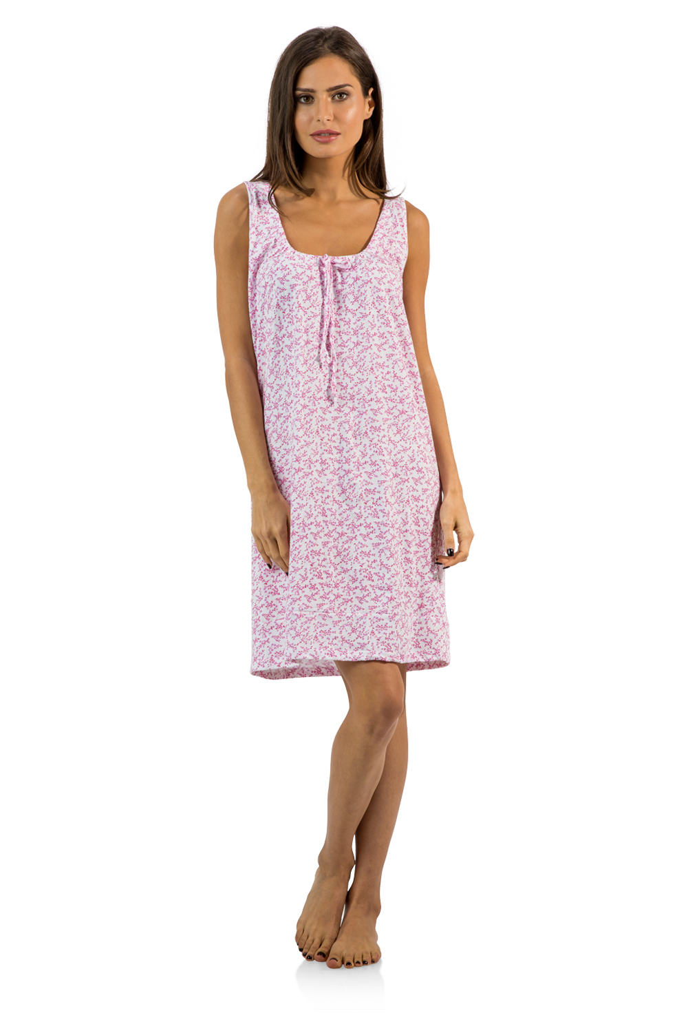 Casual Nights Womens Cotton Sleeveless Nightgown Chemise