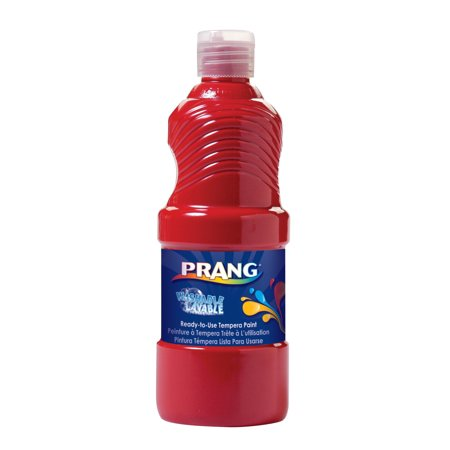 Prang Non-Toxic Ready-to-Use Washable Tempera Paint, 1 qt Bottle, Red