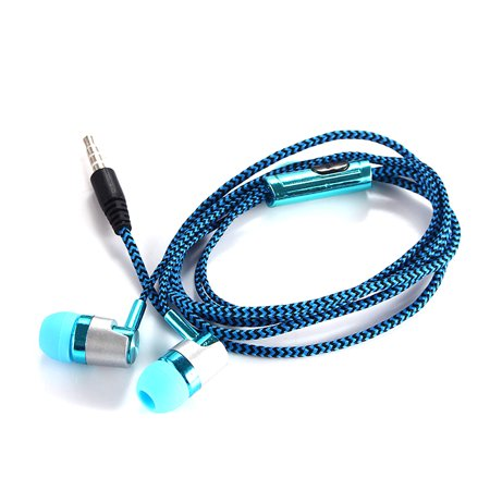 JOYFEEL Portable Moblie Phone Braided Wired In-ear Headset Clear Sounds 3.5mm Plug Earphone for Listening