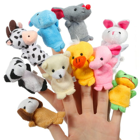 Frog Finger Puppet (Finger Puppet Set Cute Animals 10 pcs )
