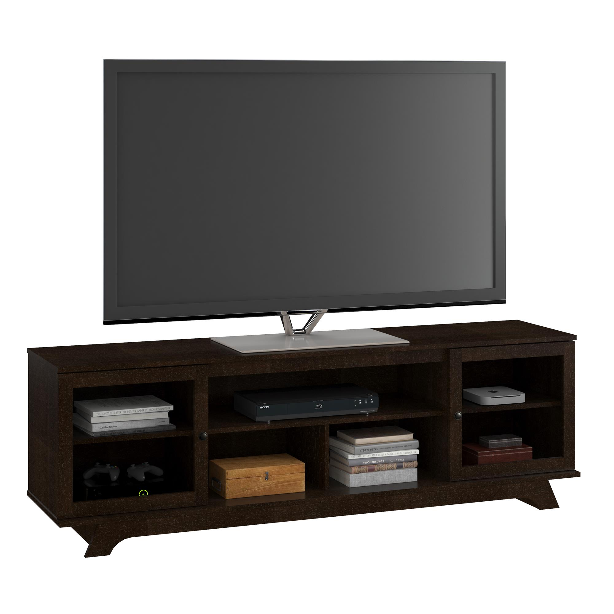 "Ameriwood Home Amberley TV Stand for TVs up to 80"", Espresso"