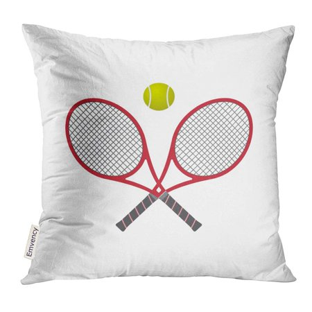 ARHOME Red Abstract Tennis Racquet with Ball Activity Pillow Case 20x20 Inches Pillowcase