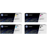 HP 508A (CF360A, CF361A, CF362A, CF363A) Black/Cyan/Magenta/Yellow Original LaserJet Toner Cartridges, 4-Color Set