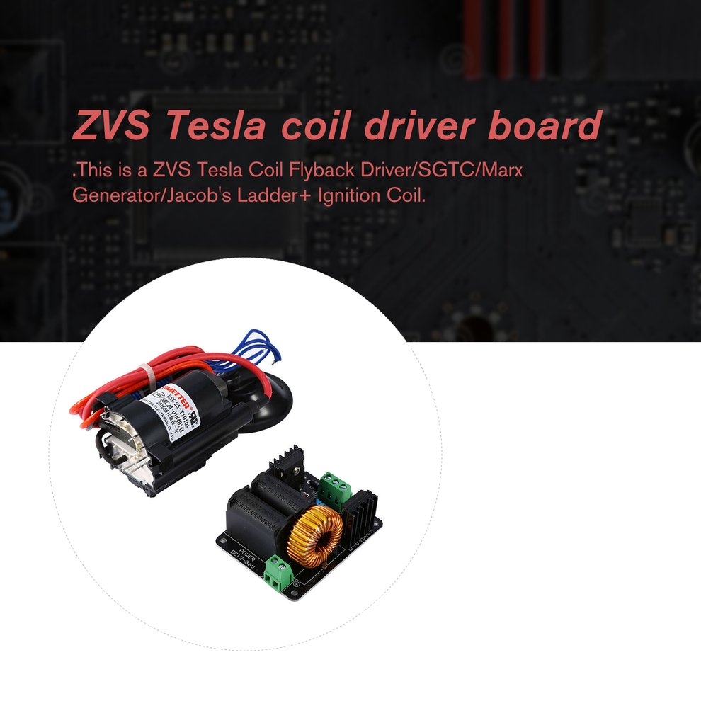 High Quality ZVS Tesla Coil Flyback Driver SGTC//Marx Generator//Jacob/'s Ladder