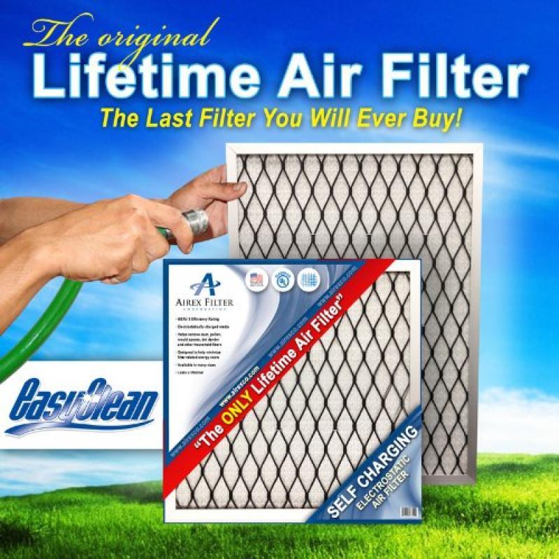 18x24x1 lifetime electrostatic ac furnace air filter. washable ...