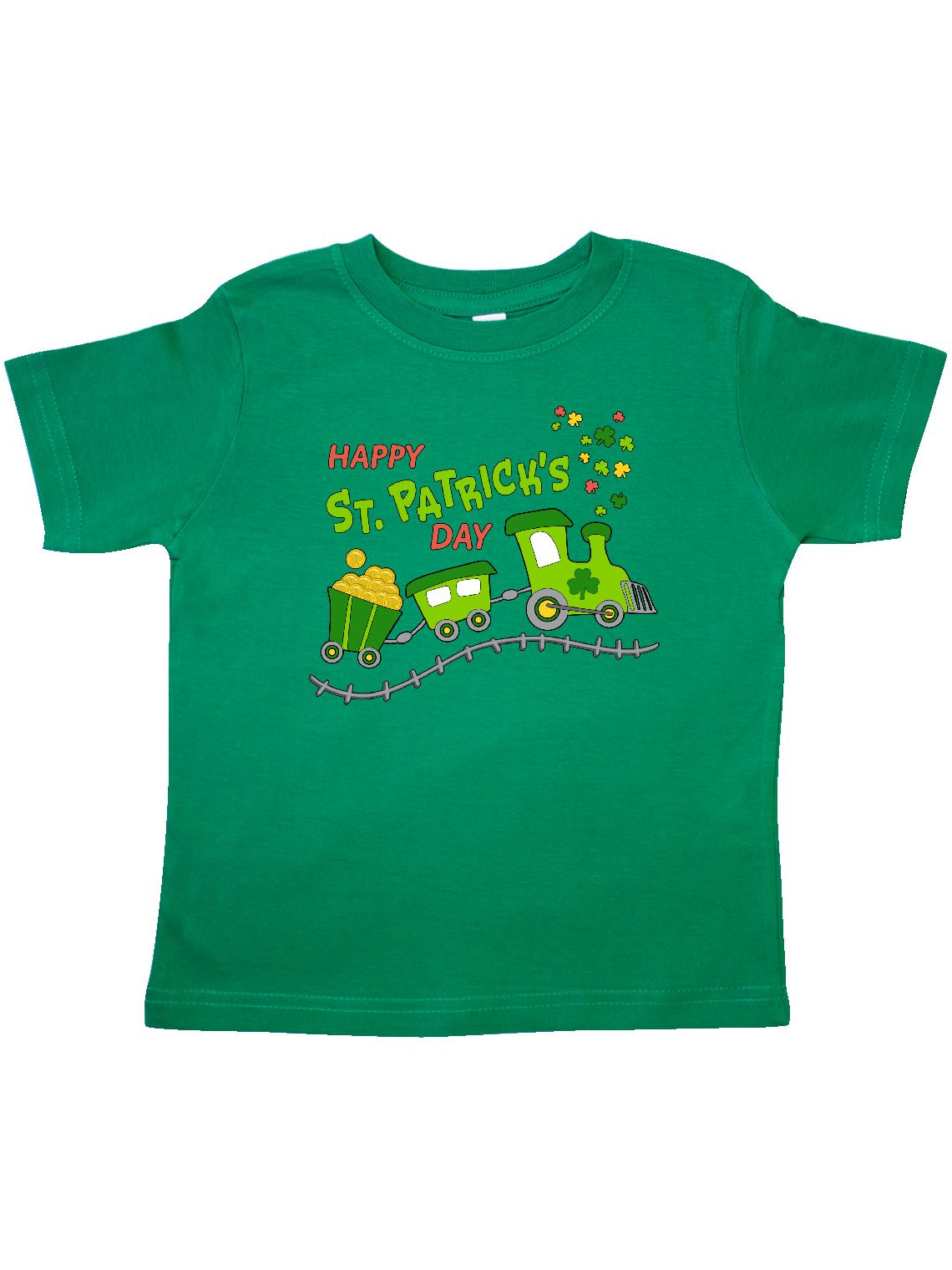 Happy St. Patrick's Day shamrock train Toddler T-Shirt