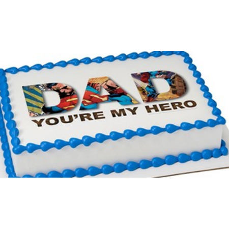 Superman You're My Hero Edible Extra Large 8 x 10 Cake Decoration Topper Image