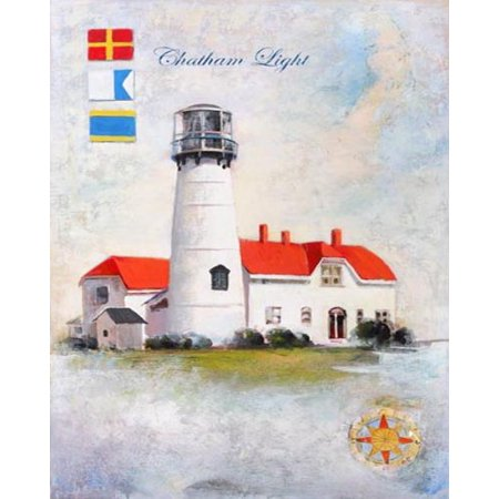 Chatham Light by Robert Downs 10x8 Poster CHATHAM MA MASSACHUSETTS CAPE COD LIGHTHOUSE LIGHTHOUSES LOWER CAPE CHATHAM MA NUATICAL COASTAL Chatham Cape Cod Ma