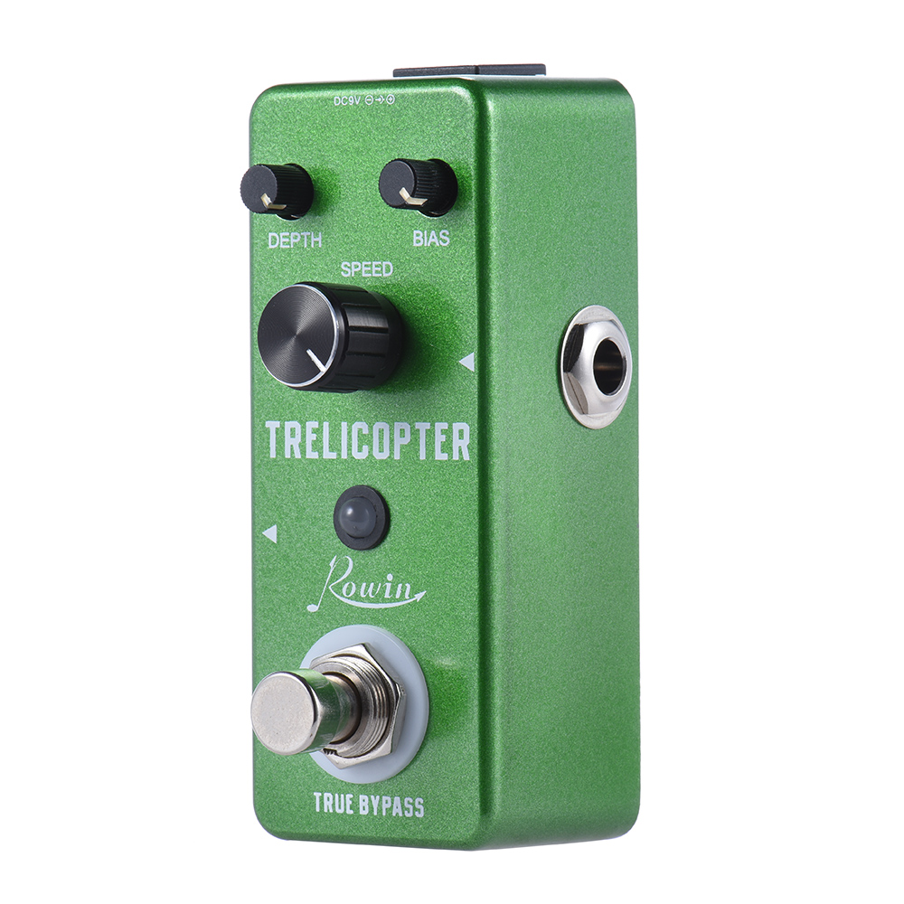 KKmoom Mini Tremolo Guitar Trelicopter Effect Pedal True Bypass Aluminum Alloy Multi... by