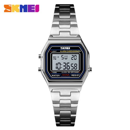 - SKMEI 1415 Men Analog Digital Watch Fashion Casual Sports Wristwatch Time Display Alarm 3ATM Waterproof Leather Strap Backlight Multifunctional Watches Relogio Masculino