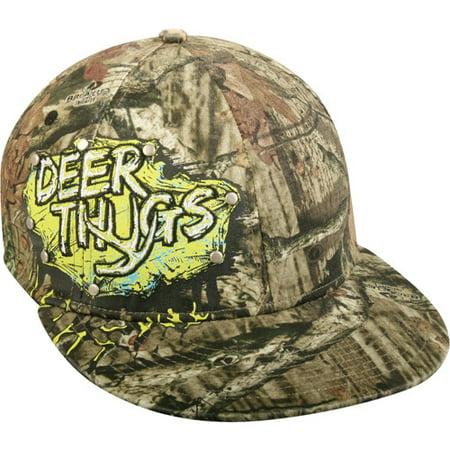 Mossy Oak Youth Boys  Flat Visor Mossy Oak Camouflage Deer Thugs Hat ... 1a8b5f9fbc1