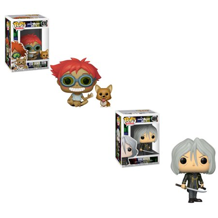 Funko POP! Animation - Cowboy Bebop S2 Vinyl Figures - SET OF 2 (Vicious & Ed and Ein)](Cowboy Play Set)
