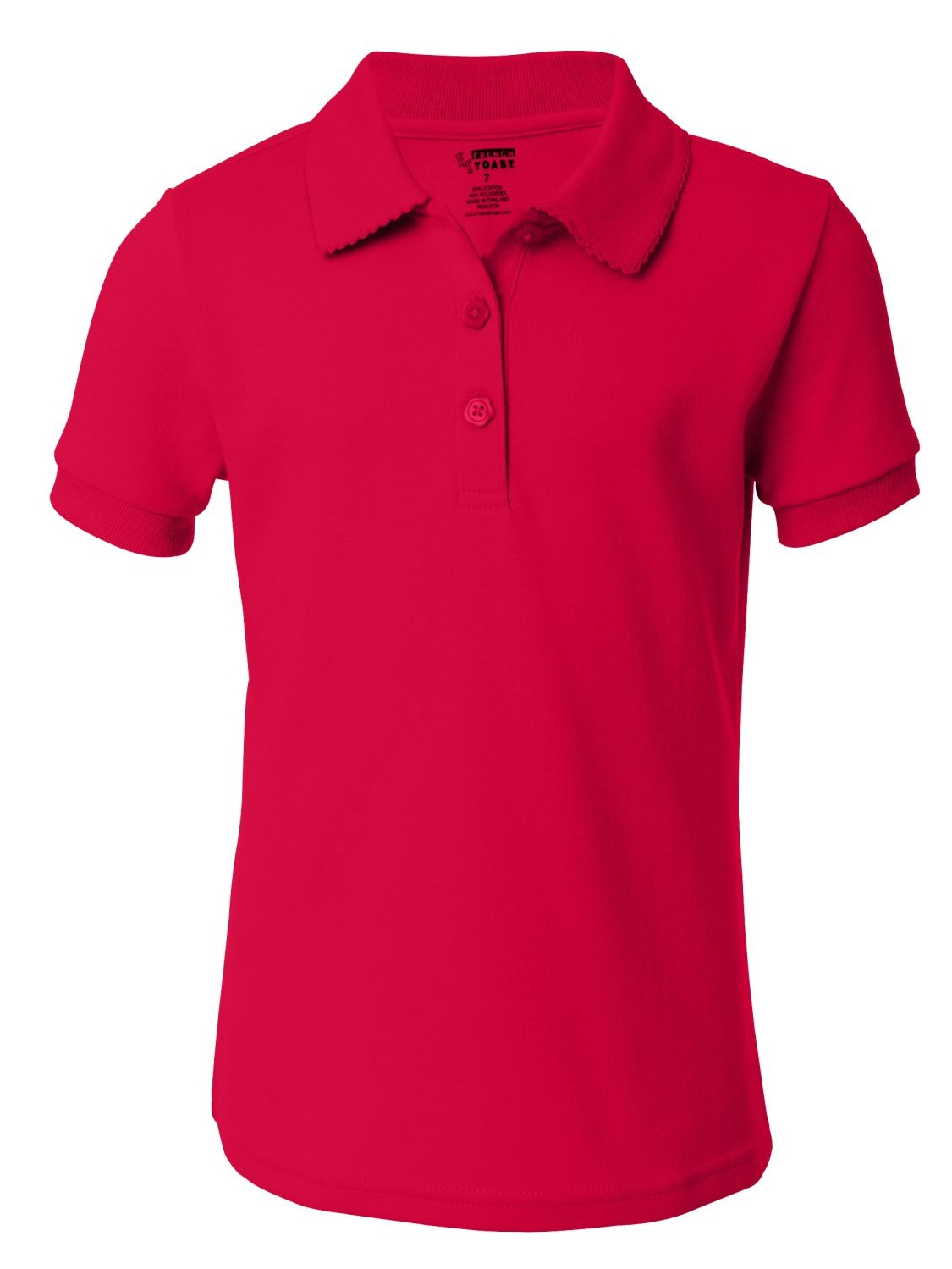 French Toast A9423 Girls' Short Sleeve Picot Polo