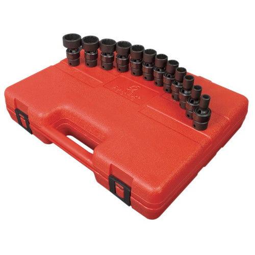 Sunex 3690 12-Piece 3/8 in. Drive 12-Point SAE Universal Impact Socket Set