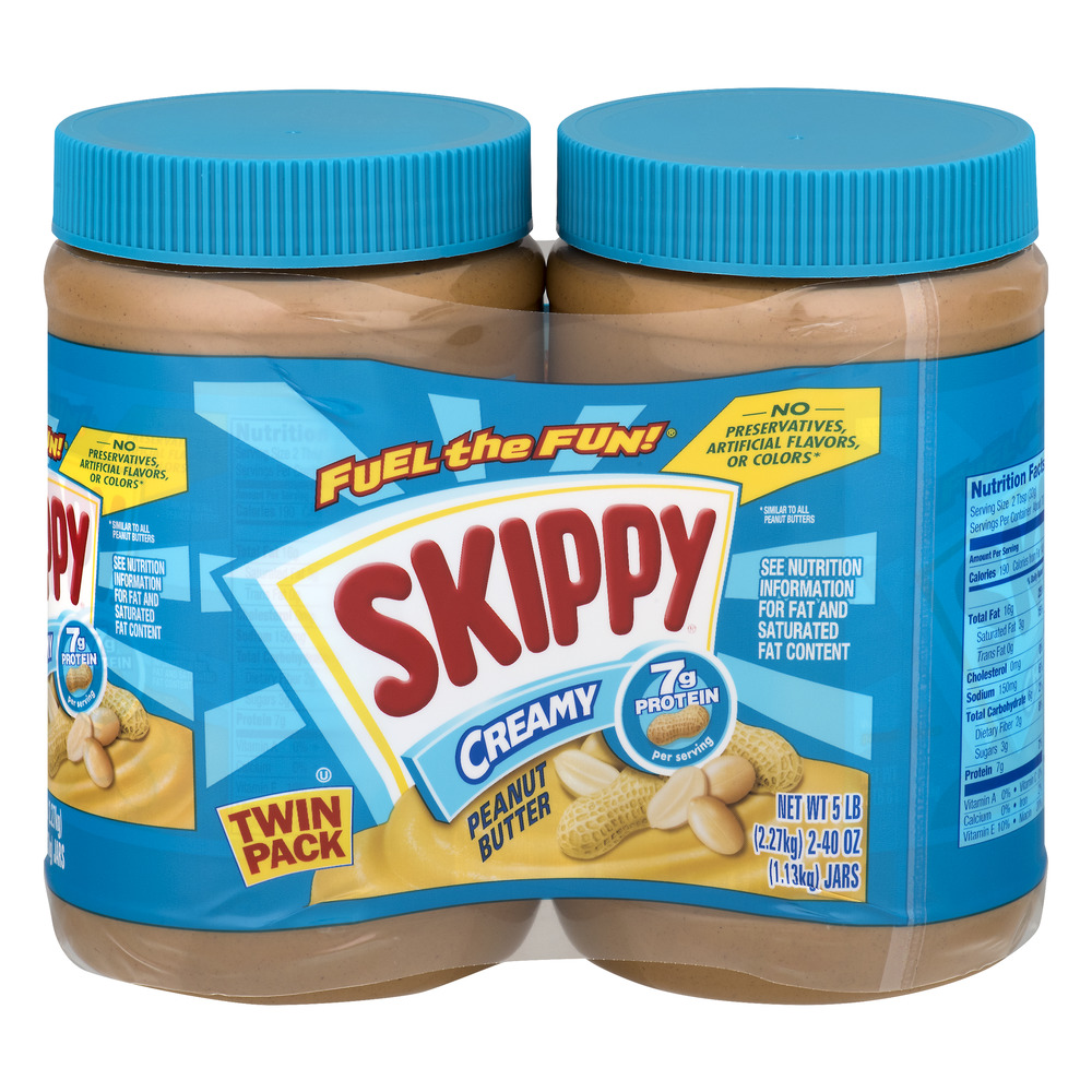 SKIPPY® Peanut Butter Creamy Twin Pack - 2 PK, 40.0 OZ