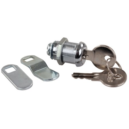 - JR Products 00315 Standard Compartment Door Key Lock - 7/8