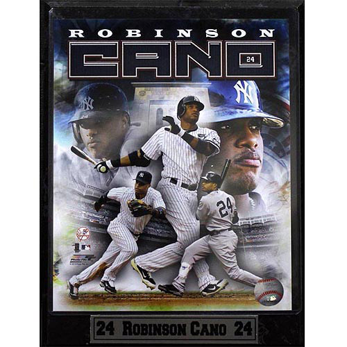 MLB Robinson Cano Photo Plaque, 9x12