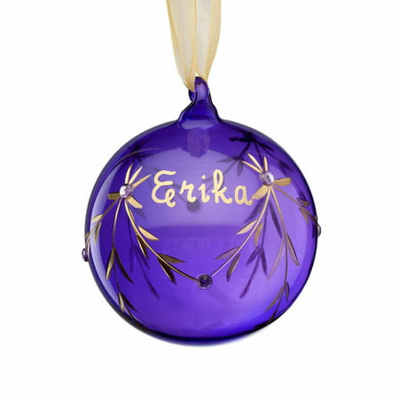 Personalized Glass Birthstone Christmas Ornament, June