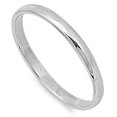 CHOOSE YOUR STYLE Sterling Silver Wedding 2mm Band Plain Comfort Fit Ring Solid 925 Plain Comfort Fit Wedding Band