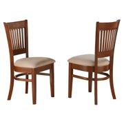 East West Furniture Vancouver Dining Chair with Microfiber Seat - Set of 2
