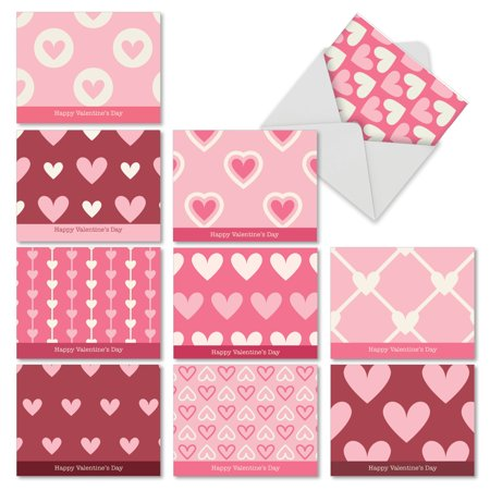 'M3058VDG-B1x10 M3058VDG-B1x10 Heartfelt' 10 Assorted Valentine's Day Note Cards Happy Valentine's Day with Envelopes by The Best Card (Best Valentines Cards For Him)