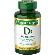 Vitamins & Supplements: Nature's Bounty Vitamin D Softgels