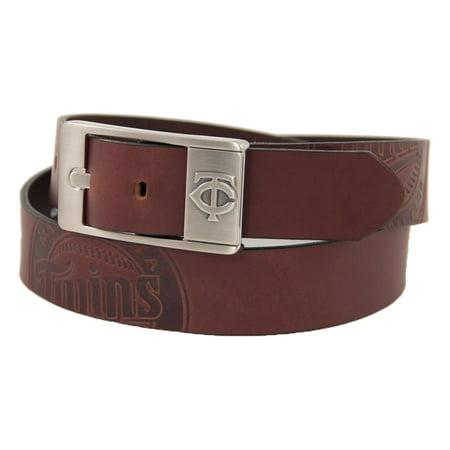 Minnesota Twins Brandish Leather Belt - Brown