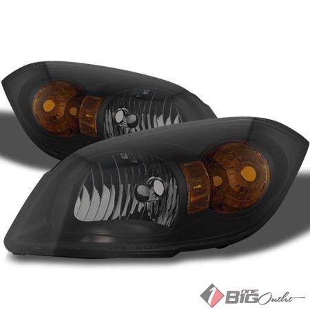 For 2005-2010 Cobalt, 2007-2009 G5, 2005-2006 Pursuit Darkside Black Smoked Headlights LH+RH Pair L+R/2006 2007 2008