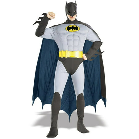 Batman Muscle Chest Adult Halloween Costume, Size: Men's - One Size