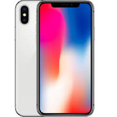 Refurbished Apple iPhone X 64GB, Silver - Locked (At&t Iphone 5 For Sale No Contract)