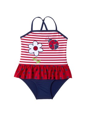 a8a99bf39dbf8 Product Image Baby Toddler Girl Ladybug Ruffle Tutu One Piece Swimsuit