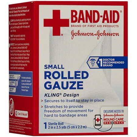 Band Aid Brand Of First Aid Products Rolled Gauze  2 Inches By 2 5 Yards