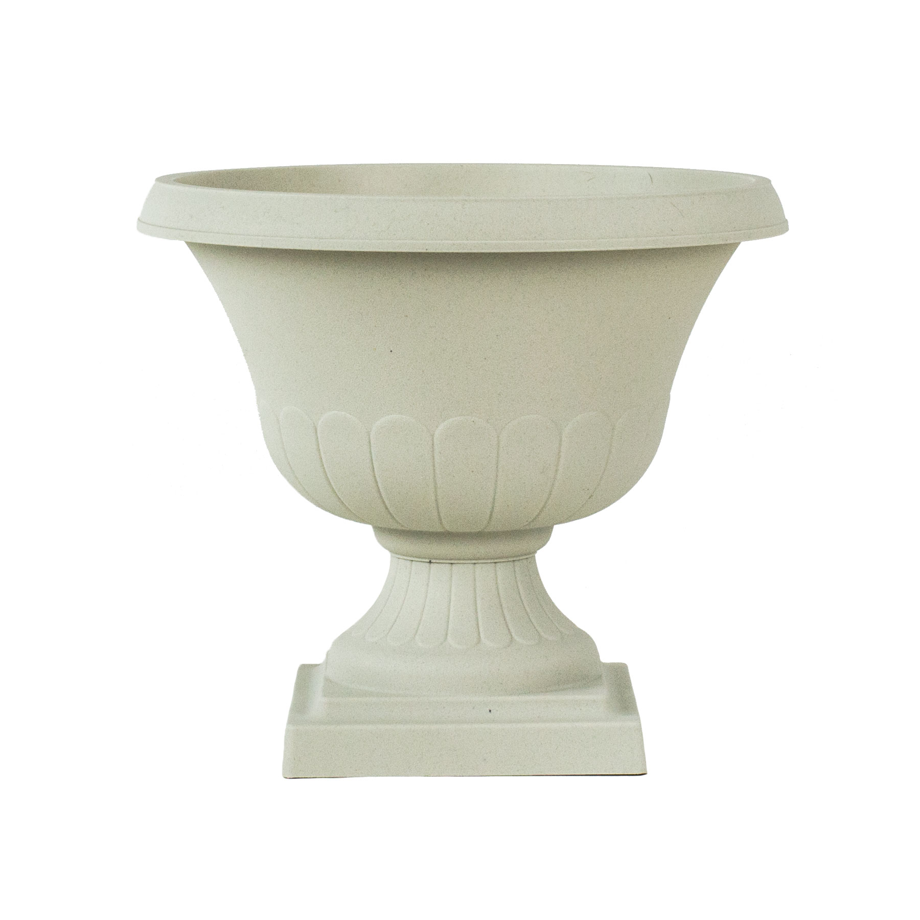 12 Inch Light Stone Taupe Classic Urn Planter for Indoor and Outdoor Use by
