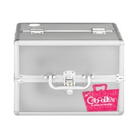 Caboodles Goddess 4 Tray Train Makeup Case, Silver