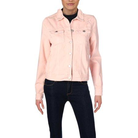 Nobody Womens Fall Distressed Jean Jacket
