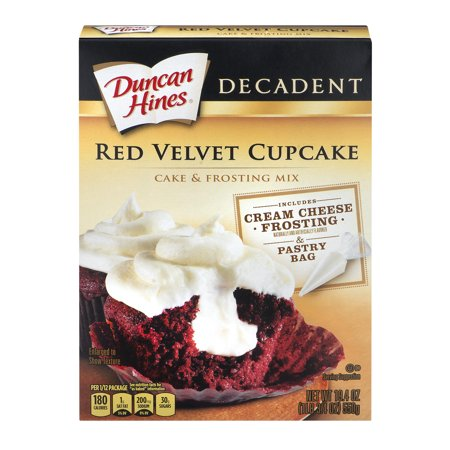 Duncan Hines Cake & Frosting Mix Red Velvet Cupcake, 19.4 OZ