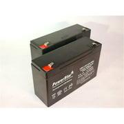 PowerStar AGM612-2Pack12 6V 12Ah 5778 UB6120 F2 Battery, 2 Pack