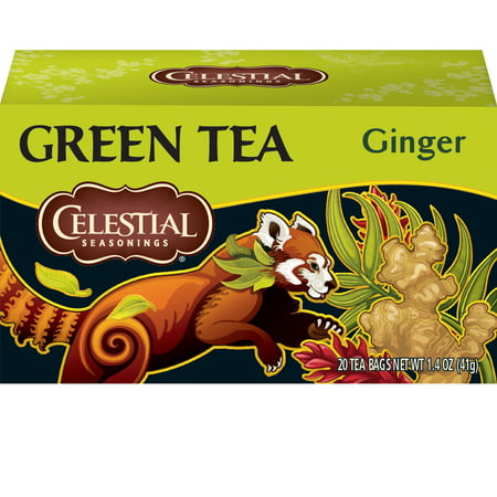 (2 Boxes) Celestial Seasonings Green Tea, Ginger, 20 (Ginger Green Tea)