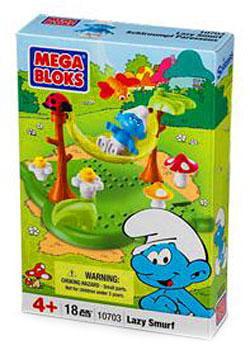 The Smurfs Lazy Smurf Set Mega Bloks 10703 by