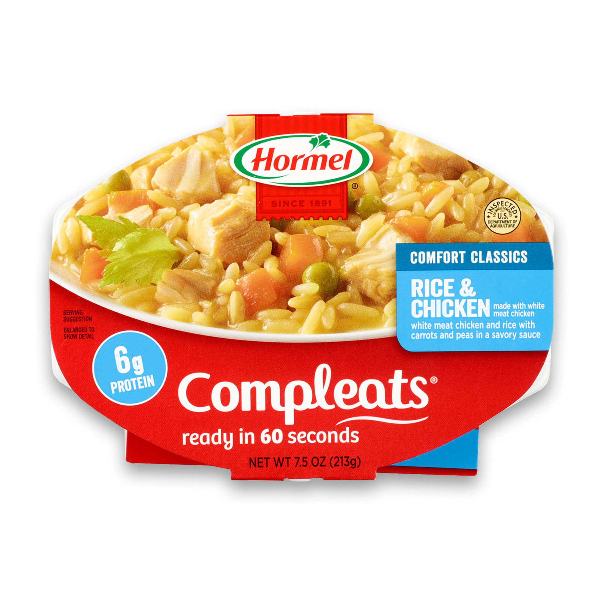 (3 Pack) Hormel Compleats Rice & Chicken, 7.5 Ounce