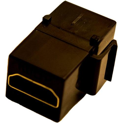 Calrad 28-166K-BK HDMI Keystone Insert Coupler Female-Female, Black