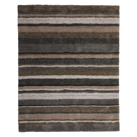 MoDRN Industrial Striped Hand Tufted Area Rug ()
