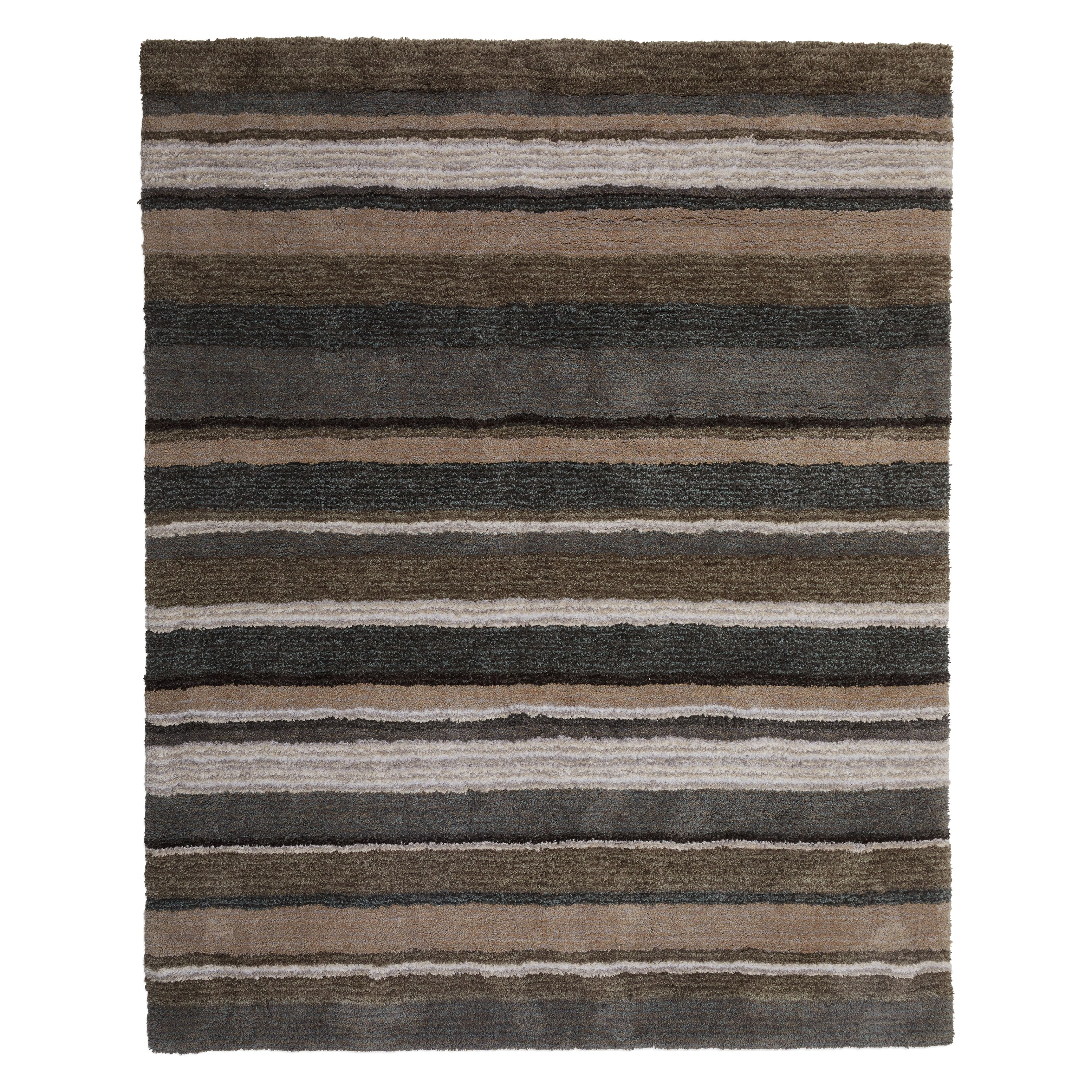 MoDRN Industrial Striped Hand Tufted Area Rug