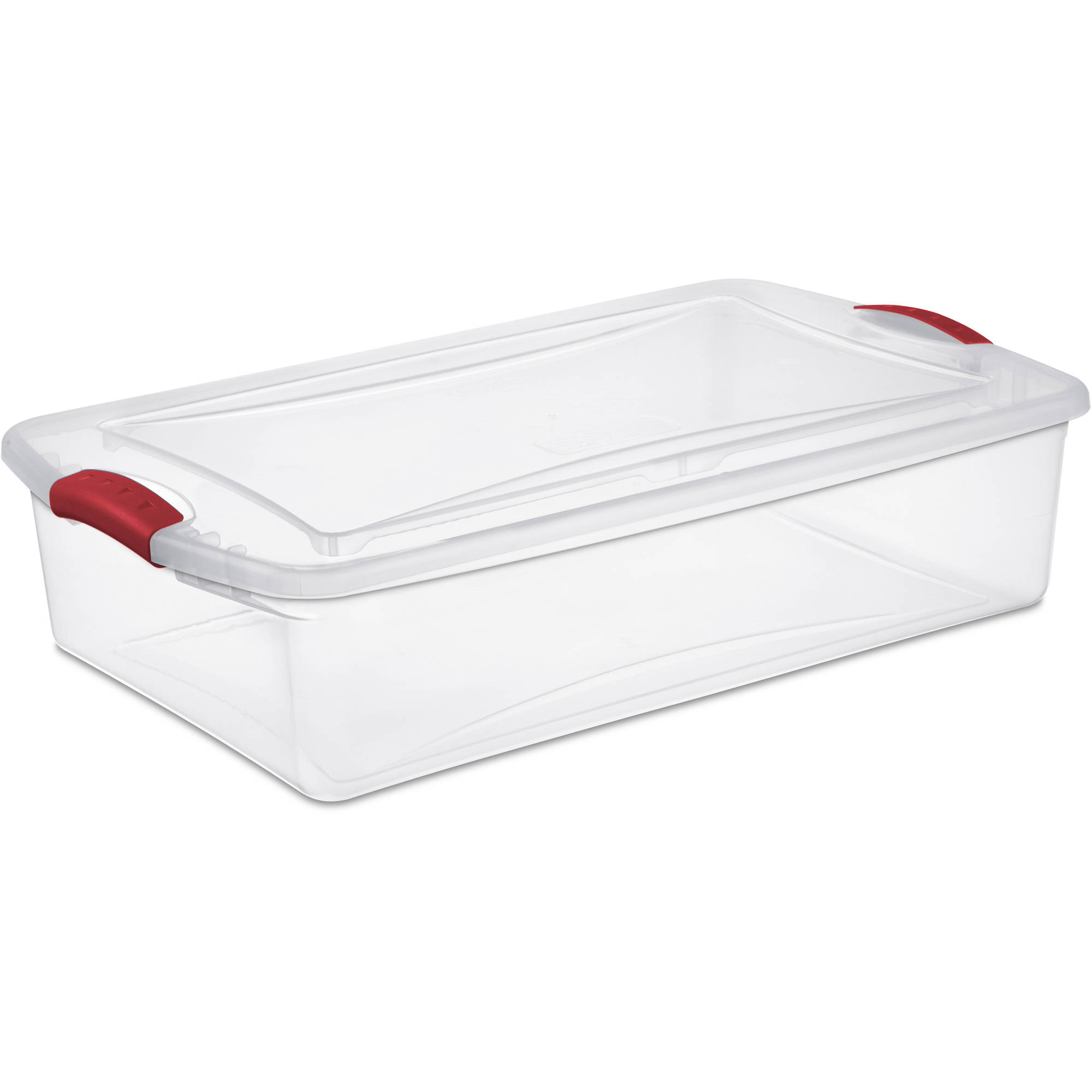 Sterilite 34-Quart Latch Box, Infra Red (Available in Case of 6 or Single Unit)