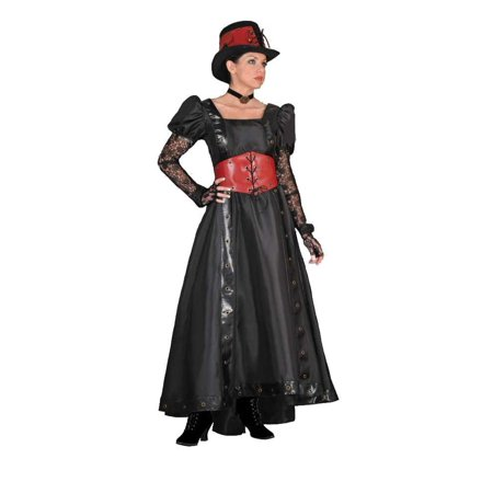 Adult Black Steampunk Lady Dress Theater Costume
